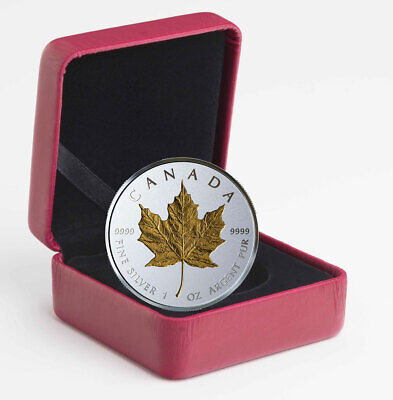 2019 Canada 1 oz Silver Maple Leaf Incuse Gilt Reverse Proof $20 OGP SKU57226