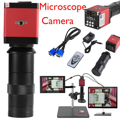 14MP HDMI VGA 1080P Industry 60F/S Video Microscope Camera 8-130X C-mount Lens