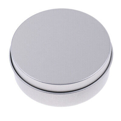 Round Empty Tin Storage Makeup Container Candle Tea Spice Candy Box Can Jar