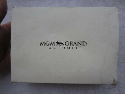 MGM Grand Detroit Casino gift box w WATCH necklace and earrings