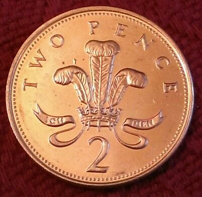 *2000* PRINCE OF WALES FEATHERS 2p coin / two pence piece