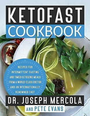 The KetoFast Cookbook by Dr. Joseph Mercola Hardcover Keto Diet Book WT76269