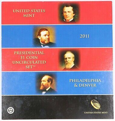 2011-P/D United States Mint Presidential $1 Coin Uncirculated Set BU Unc