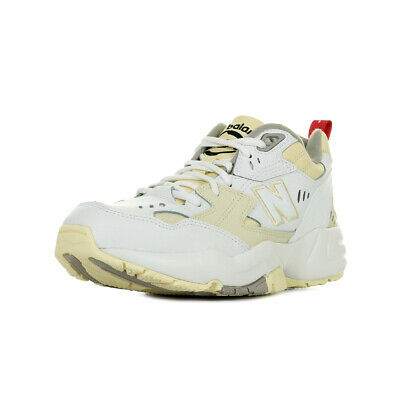 CHAUSSURES BASKETS NEW Balance femme 608 taille Blanc Blanche Cuir Lacets