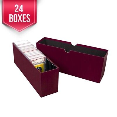 Slotted Sports Cards Storage Box Vault for PSA Graded Trading Cards - Case of 24