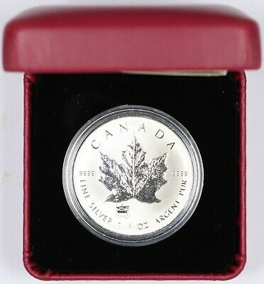 2014 Royal Canadian Mint $5 ANA Privy Silver Maple Leaf 1oz .9999 Silver w/ OGP