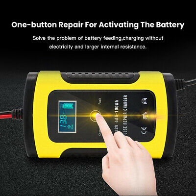 12V Auto Motorcycle Car Battery Chargers Pulse Repair Lead Acid Storage Chargers
