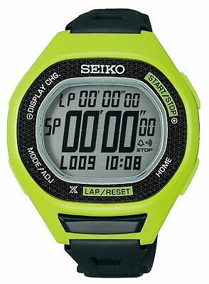 Seiko SBEG011 Super Runners Large Stop Watch Lime