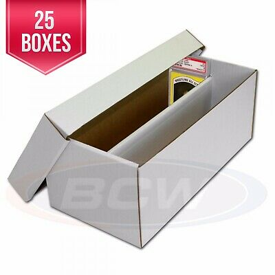 BCW Graded Baseball Trading Card Storage 2 Piece Shoe Box w/ Lid - Lot of 25