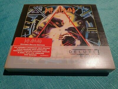Def Leppard - Hysteria Cd X 2 Uk Limited Deluxe Edition Digipak And Booklet Mint