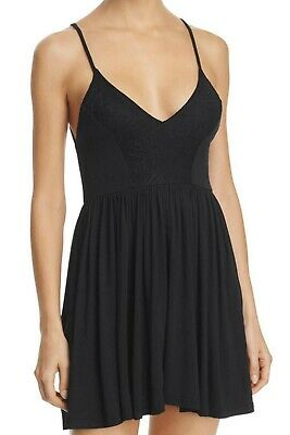 New Sam Edelman S8919 Womens Lace-Trim Romper, Black