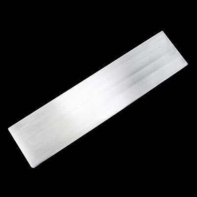 "XL Polished Selenite ""Charging"" Plate 8"" Flat Natural Crystal Display Plate Wand"