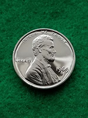 1969-s  Uncirculated Lincoln cent/penny-proof- **Free ship**
