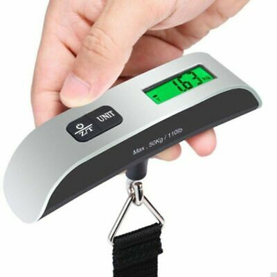 Portable 110lb / 50kg LED Digital Hanging Luggage Scale Travel Electronic Weight