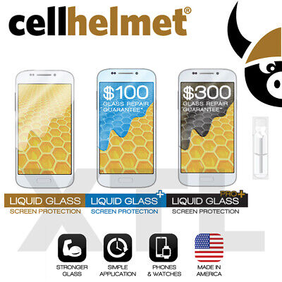 Cellhelmet Liquid Glass, Glass+ $100, Glass Pro+ $300 Screen Protector Universal