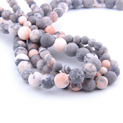 Wholesale Natural Gemstone Beads Pink Zebra Jasper Matte Stone Beads 6/8/10mm