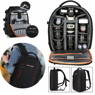 K&F Concept Camera Backpack Bag Waterproof Large for Nikon Canon DSLR Camera GBD