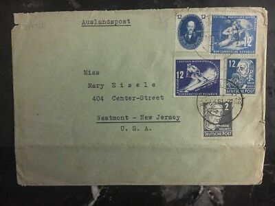 1951 East Germany DDR Cover  # 51 To New York