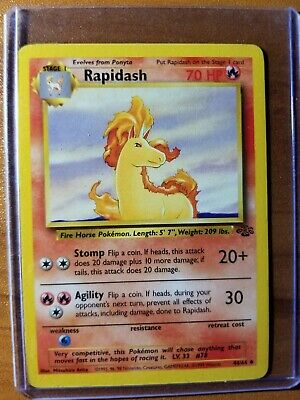 Pokemon Jungle Uncommon Card #44//64 Rapidash