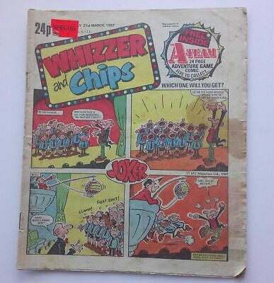 Whizzer and Chips 21 March 1987 Childrens Kids Humour Humor Comic UK