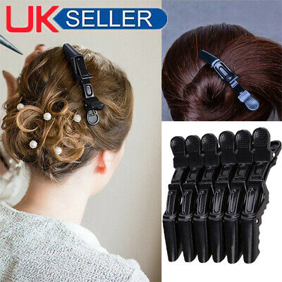5pcs Salon Hair Sectioning Clips Claw Clamp Crocodile Hairdressing Grip BLK