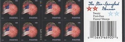 One Book Of 20 Star Spangled Banner Usps First Class Forever Postage Stamps