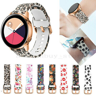 Printed Silicone Strap For Samsung Galaxy Watch Active 40MM Sport band Wristband