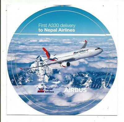 NOUVEAU ! First A330 delivery to Nepal Airlines 2nd Modèle STICKER ROND AIRBUS