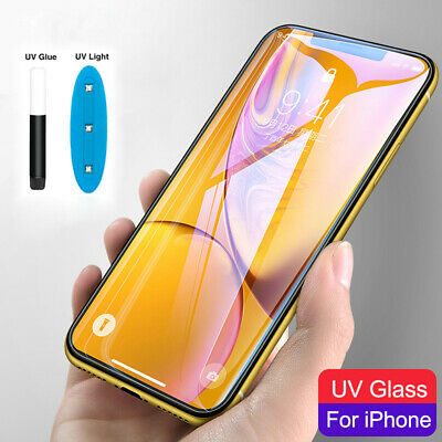 Wholesale Liquid UV Glue Tempered Glass Screen Protector For iPhone XS MAX XR X