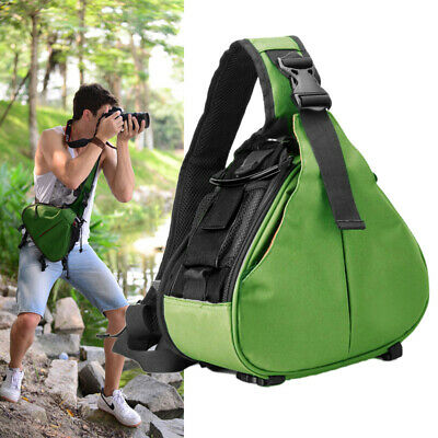 Travel Waterproof Camera Bag Triangle DSLR SLR Backpack Padded Insert Carry Case