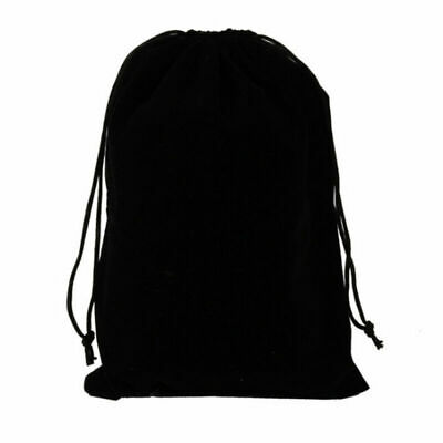 50pcs Velvet Drawstring Bags Black Storage Pouches with String for Jewelry Gift