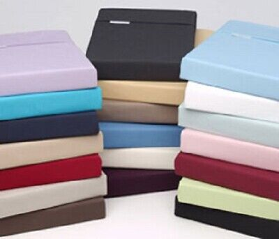 Plain Fitted Sheets Polycotton Non Iron Percale Soft & Smooth High Quality Sheet