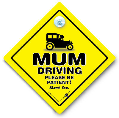 Mum Driving Please Be Patient Car Sign,  Elderly Driver Sign, Mummy Driving Sign