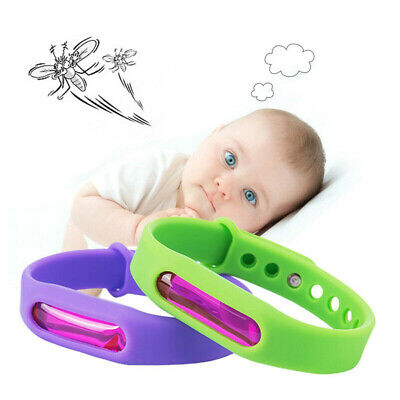 5Pcs Silicone Essential Oil Anti Mosquito Insect & Bug Repellent Bracelet Bands