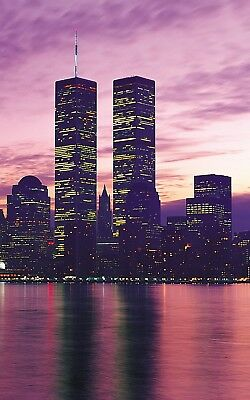 Twin Towers New York - Warm Sunset History Large Poster / Canvas Picture Prints