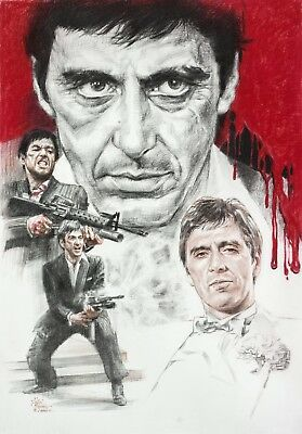 Scarface Classic Gangster Movie Wall Art Canvas Picture Print Various Sizes