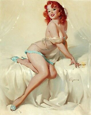 Pin-Up Classic Art - Sexy Vintage Women Wall Art Large Poster / Canvas Pictures