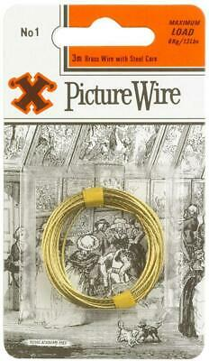 No.1 Brass Picture Wire, 3m - X 12834