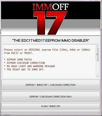 EDC17 cheksum Immo Off  software downloding for off MED17.5 EDC17C46  EDC17CP04