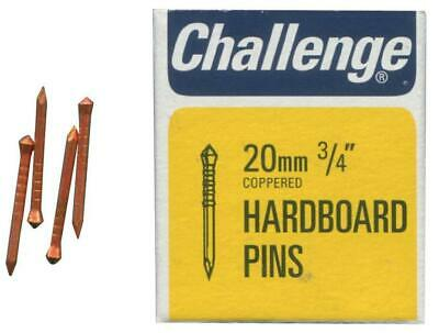 """3/4"""" (20mm) Copper Plated Hardboard Pins, 40g Pack - CHALLENGE 10806"""