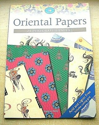 The Crafters Paper Library Pad 24 Oriental  Papers A4  New