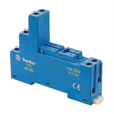 Finder 95.05 Relay Socket 250V 10A for 40.52 / 40.61 and 44.62 Series