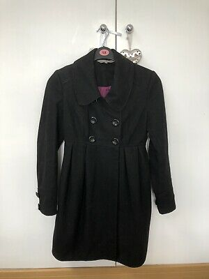 Black New Look Maternity Coat Size 8
