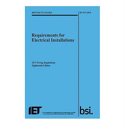 IET Publishing BS7671:2018 Wiring Regulations 18th Edition