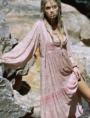 SPELL And The Gypsy Poinciana Gown Dress Cotton Candy