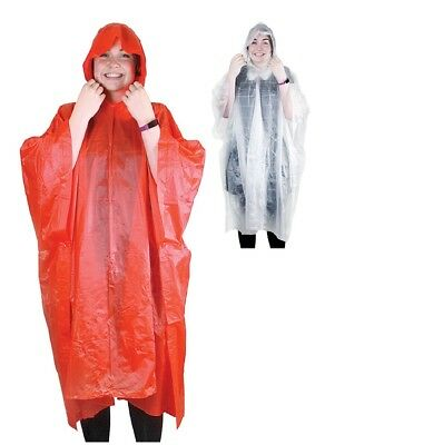 Adult Waterproof Ponchos Rain Cover Protector Camping Holiday Theme Park