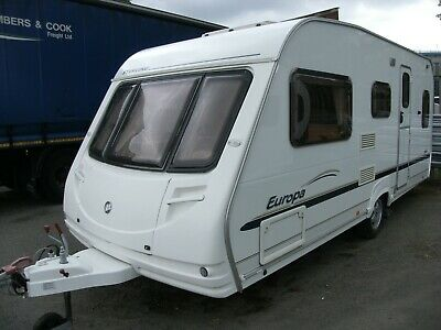 2006 Sterling Europa 500 5 berth touring caravan with auto motor mover