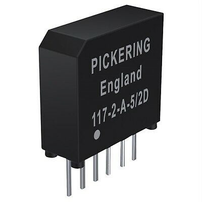 Pickering 117-2-A-5/2D. Very High Density 2 Form A (DPST). 5 Volt coil SIL
