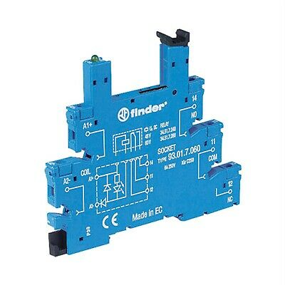 Finder 93.01.7.024 Relay Socket 250V 6A for 34.51 and 34.81 Series Relays