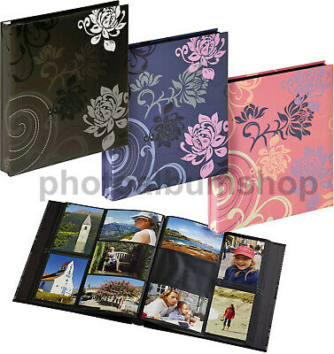 Grindy 6x4 / 10x15 cm slip-in 400 horizontal / vertical photo album, black pages